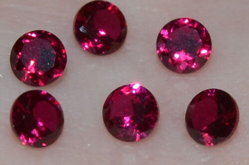 A Single Gorgeous 4mm IF Brilliant Cut Genuine Red Ruby!!!