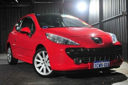 2007 Peugeot 207 A7 GT Red 5 Speed Manual Hatchback Wangara Wanneroo Area Preview