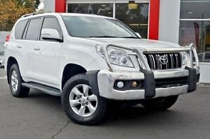 2012 Toyota Landcruiser Prado GRJ150R GXL White 6 Speed Manual Wagon Upper Ferntree Gully Knox Area Preview