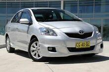 2008 Toyota Yaris NCP93R MY09 YRX Silver 5 Speed Manual Sedan Baulkham Hills The Hills District Preview