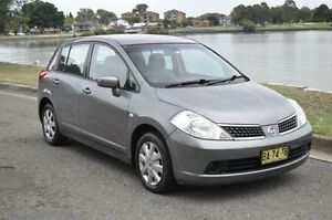 2007 Nissan Tiida C11 MY07 ST Grey 4 Speed Automatic Hatchback Croydon Burwood Area Preview