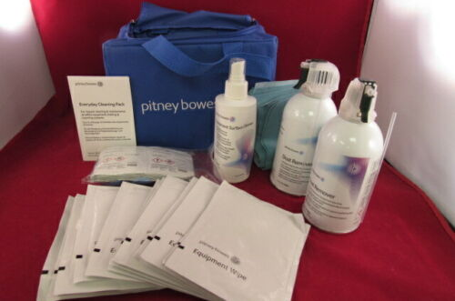 Pitney Bowes Everyday Cleaning Pack w/ Dust Removers, Surface Cleaner, Wipes