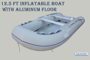 New Aquamarine 12.5 ft inflatable boat with aluminum floor SALE!
