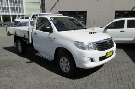 2012 Toyota Hilux KUN26R MY12 SR (4x4) White 4 Speed Automatic Cab Chassis
