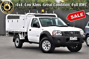 2010 Nissan Navara D22 MY2010 DX White 5 Speed Manual Cab Chassis Ringwood East Maroondah Area Preview