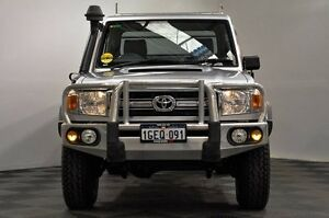 2009 Toyota Landcruiser VDJ79R MY10 GXL Silver 5 Speed Manual Cab Chassis Edgewater Joondalup Area Preview