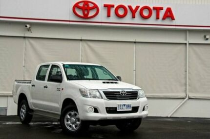 2012 Toyota Hilux KUN26R MY12 SR Double Cab Glacier White 5 Speed Manual Utility Upper Ferntree Gully Knox Area Preview