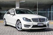 2011 Mercedes-Benz C300 W204 MY11 BlueEFFICIENCY 7G-Tronic + Avantgarde White 7 Speed St James Victoria Park Area Preview
