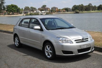2006 Toyota Corolla ZZE122R MY06 Ascent Seca Silver 5 Speed Manual Hatchback