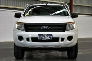 2012 Ford Ranger PX XL 4x2 Hi-Rider White 6 Speed Sports Automatic Cab Chassis