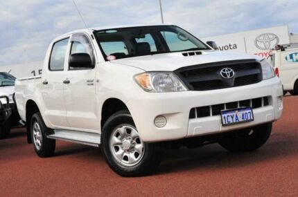 2008 Toyota Hilux KUN26R MY08 SR White 5 Speed Manual Utility Balcatta Stirling Area Preview