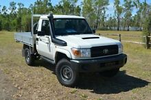 2010 Toyota Landcruiser VDJ79R MY10 Workmate Glacier White 5 Speed Manual Single Cab Berserker Rockhampton City Preview