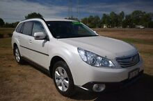 2011 Subaru Outback B5A MY11 2.5i Lineartronic AWD White 6 Speed Constant Variable Wagon Vincent Townsville City Preview