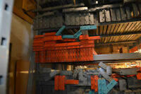 Liquidation de racking, montants, poutres, safety bars