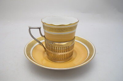 ART DECO PARAGON COFFEE CAN SAUCER STERLING SILVER HOLDER 1933
