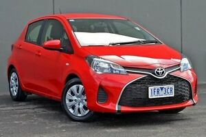 2015 Toyota Yaris Red Automatic Hatchback Cranbourne Casey Area Preview