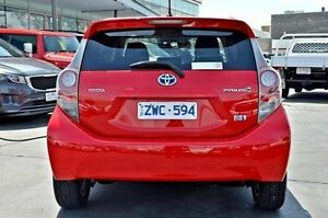 2012 Toyota Prius c NHP10R i-Tech E-CVT Red 1 Speed Constant Variable Hatchback Frankston Frankston Area Preview