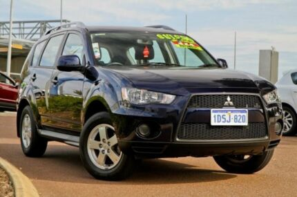 2010 Mitsubishi Outlander ZH MY10 LS Blue 6 Speed Constant Variable Wagon East Rockingham Rockingham Area Preview