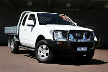 2012 Nissan Navara D40 S6 MY12 ST-X King Cab White 6 Speed Manual Cab Chassis Northbridge Perth City Preview