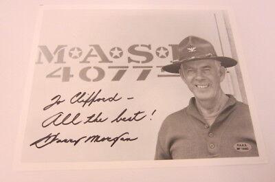 Harry Morgan  Mash  Col Potter Signed Autographed 8X10 Black   White Photo Coa