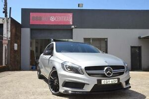 2014 Mercedes-Benz A45 176 MY14 AMG Polar Silver 7 Speed Auto Dual Clutch Hatchback North Curl Curl Manly Area Preview