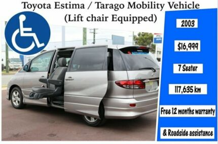 Toyota Estima/Tarago, Mobility Vehicle, 7 Seater, Welcab, Liftchair Equipped Kenwick Gosnells Area Preview