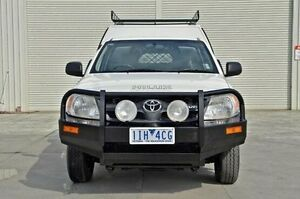 2008 Toyota Hilux GGN15R MY08 SR White 5 Speed Manual Cab Chassis Seaford Frankston Area Preview