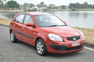 2008 Kia Rio JB EX Burgundy 4 Speed Automatic Hatchback Croydon Burwood Area Preview