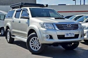 2011 Toyota Hilux KUN26R MY12 SR5 Double Cab Silver 4 Speed Automatic Utility Frankston Frankston Area Preview