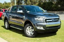 2015 Ford Ranger PX MkII XLT Double Cab Metropolitan Grey 6 Speed Manual Utility Wangara Wanneroo Area Preview