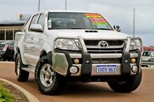 2011 Toyota Hilux KUN26R MY12 SR5 Double Cab White 4 Speed Automatic Utility East Rockingham Rockingham Area Preview
