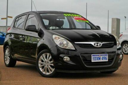 2011 Hyundai i20 PB MY11 Premium Black 4 Speed Automatic Hatchback East Rockingham Rockingham Area Preview