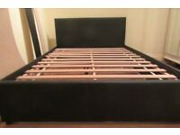 New Double bed Frame leather Head Borad black