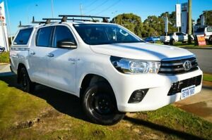 2016 Toyota Hilux GGN120R SR Double Cab 4x2 White 6 Speed Sports Automatic Utility Wangara Wanneroo Area Preview