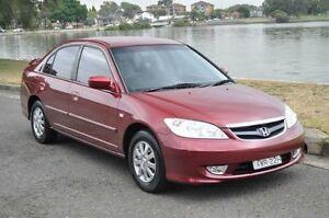 2005 Honda Civic 7TH GEN GLi Burgundy 4 Speed Automatic Sedan Croydon Burwood Area Preview
