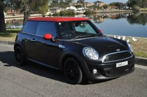 2010 Mini Cooper R56 MY11 S JCW Black 6 Speed Manual Hatchback Five Dock Canada Bay Area Preview