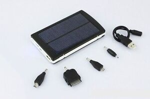 NEW 30 000 mAh Solar Portable Battery Charger Dual USB Charging