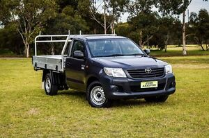 2013 Toyota Hilux TGN16R MY12 Workmate Grey 5 Speed Manual Cab Chassis Medindie Walkerville Area Preview