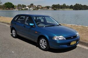 2001 Ford Laser KN LXI Blue 5 Speed Manual Hatchback Croydon Burwood Area Preview