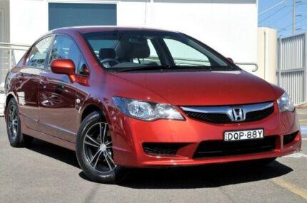 2009 Honda Civic 8th Gen MY09 VTi Red 5 Speed Automatic Sedan
