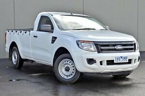 2012 Ford Ranger  White Manual Cab Chassis Cranbourne Casey Area Preview