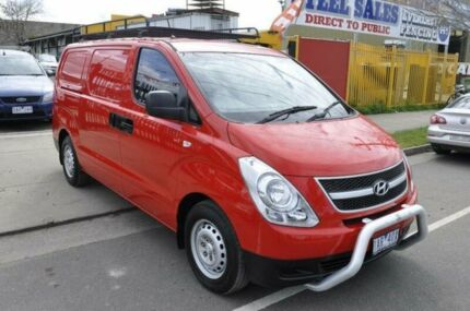2010 Hyundai iLOAD TQ Red 5 Speed Automatic Van Hoppers Crossing Wyndham Area Preview