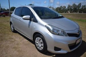2012 Toyota Yaris NCP130R YR Silver 5 Speed Manual Hatchback Vincent Townsville City Preview