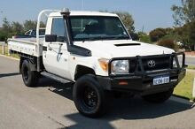 2010 Toyota Landcruiser VDJ79R MY10 Workmate Glacier White 5 Speed Manual Cab Chassis Mindarie Wanneroo Area Preview
