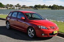2004 Mazda 3 BK SP23 Red 4 Speed Auto Activematic Hatchback Croydon Burwood Area Preview