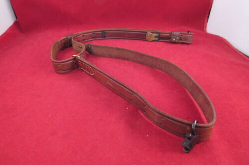 """Hunter Company Quick Release 1"""" Brown Leather Rifle Sling -Fully Adjustable"""
