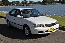 2001 Toyota Corolla ZZE122R Ascent Seca White 4 Speed Automatic Hatchback Croydon Burwood Area Preview