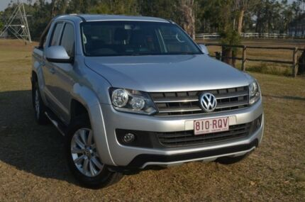 2011 Volkswagen Amarok TDi400 Highline Silver 6 Speed Manual Dual Cab Berserker Rockhampton City Preview