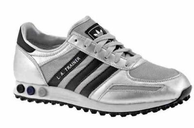 Adidas Unisex LA Trainers Fashion Sneakers Lace Shoes Silver