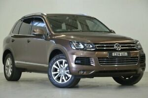 2013 Volkswagen Touareg 7P MY13 150TDI Tiptronic 4MOTION Brown 8 Speed Sports Automatic Wagon Mascot Rockdale Area Preview